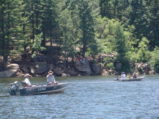 Fishing at Woods Canyon Lake