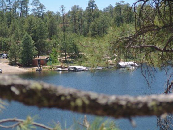 Woods Canyon Lake boat ramp