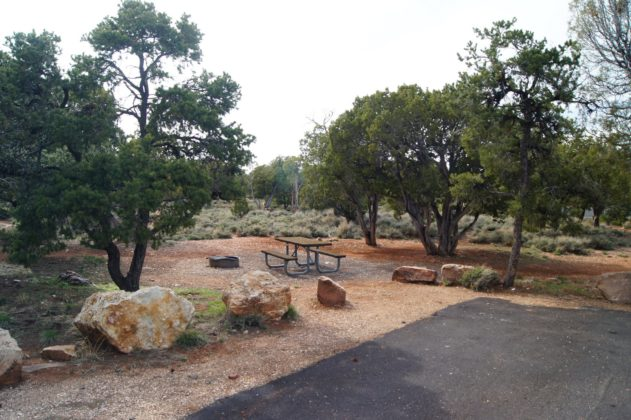 A Desert View Campground Campsite