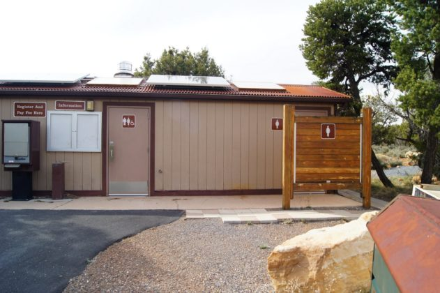 Restrooms at Desert View Campground