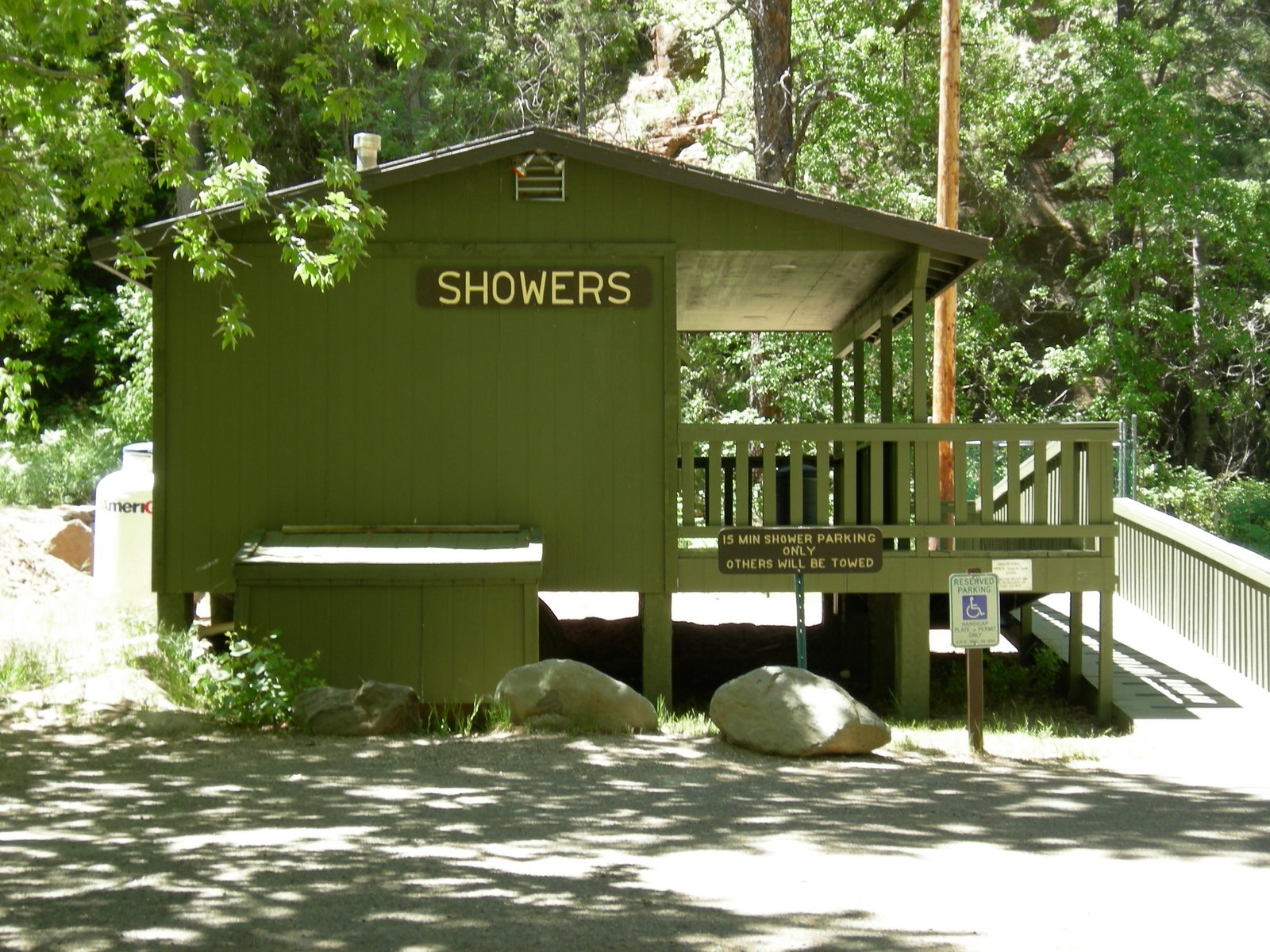 Showers At Cave Springs Camp Arizona