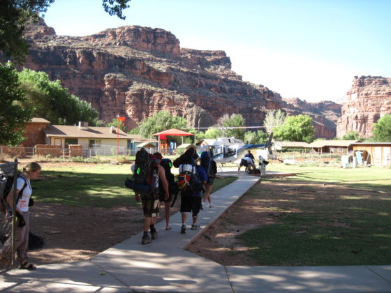 The Helicopter pad in Supai | Camp Arizona