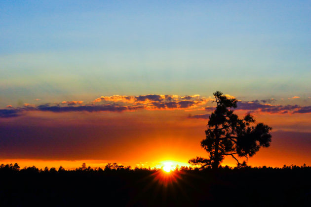 Beautiful Arizona sunsets along the Mogollon Rim