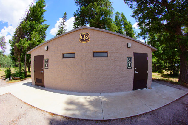 Restrooms at Brookchar Campground