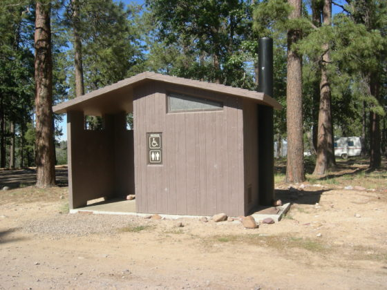 Restrooms at Upper Canyon Creek Campground