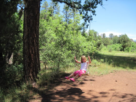The swing at Upper Canyon Creek Campground