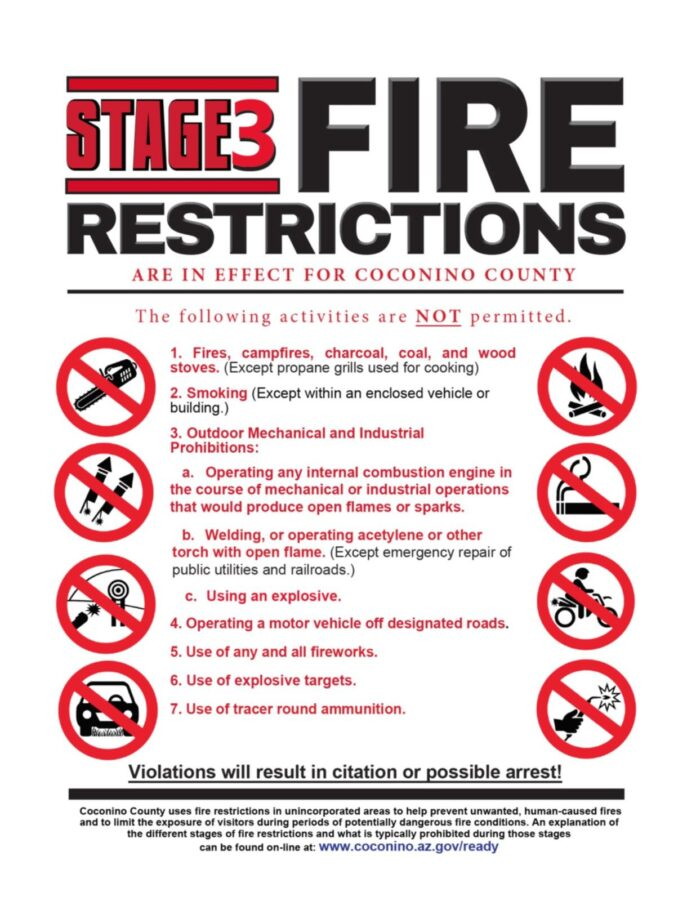 Stage 3 Fire Restrictions